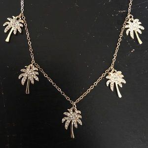 Lily Pulitzer Palm tree necklace and earrings